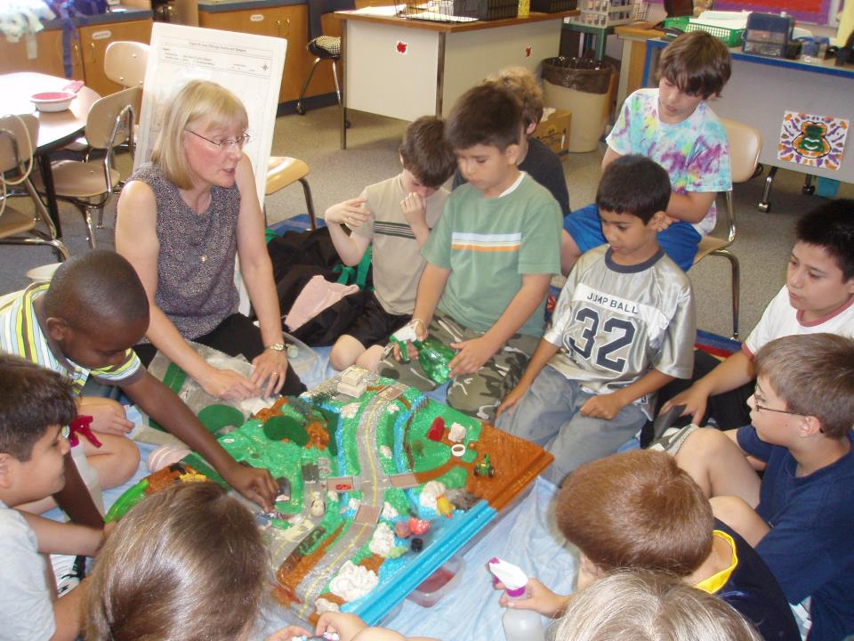Enviroscape at Elementary School