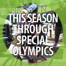 THIS SEASON THROUGH SPECIAL OLYMPICS