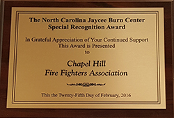 Burn Center Plaque