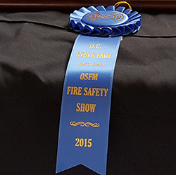 Fire safety puppet show blue ribbon