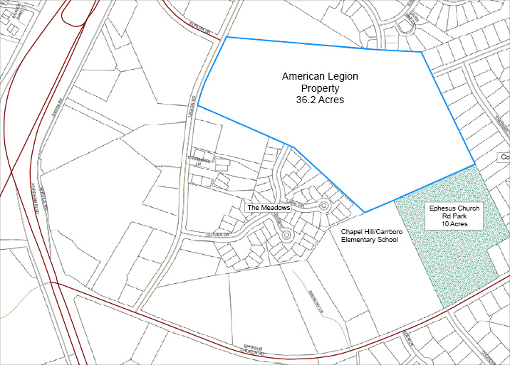 AMERICAN LEGION PROPERTY MAP