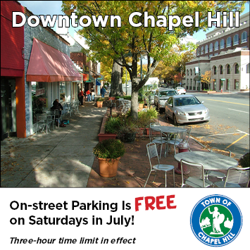 FREE STREET PARKING SATURDAYS IN JULY