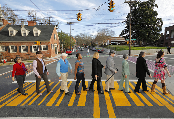 COUNCIL IN COLORFUL CROSSWALK