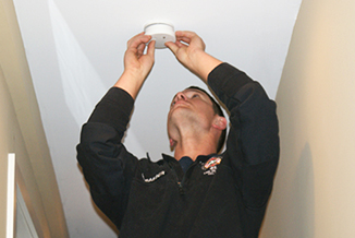 FIRE DEPARTMENT ASSISTS RESIDENTS WITH FIRE ALARMS