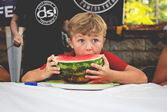 JULY 4 WATERMELON EATING CONTEST
