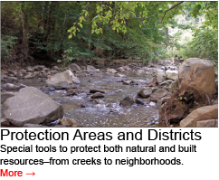 Go to Special Protection Areas and Historic Districts