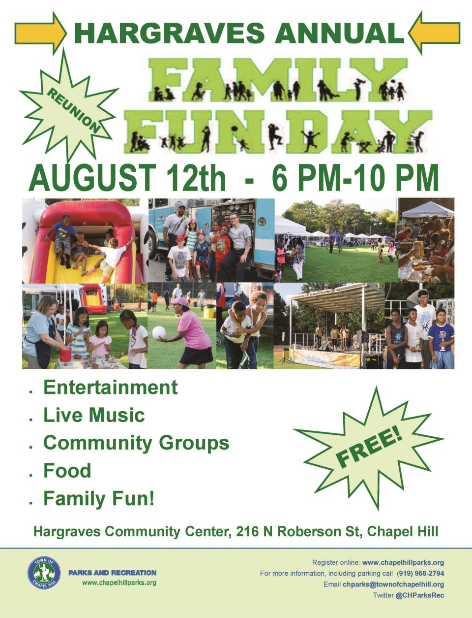 2017 Hargraves Family Fun Day Flyer