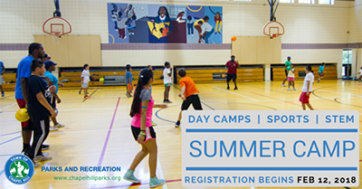 SUMMER CAMP REGISTRATION STARTS FEB. 12