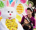 CHILD WITH EASTER BUNNY