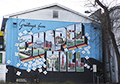 CHAPEL HILL POSTCARD MURAL