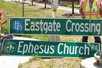 EASTGATE CROSSING SIGN