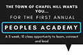 Applications Open for Inaugural Chapel Hill Peoples Academy