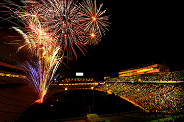 FIREWORKS AT KENAN STADIUM