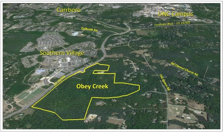 Obey Creek Map