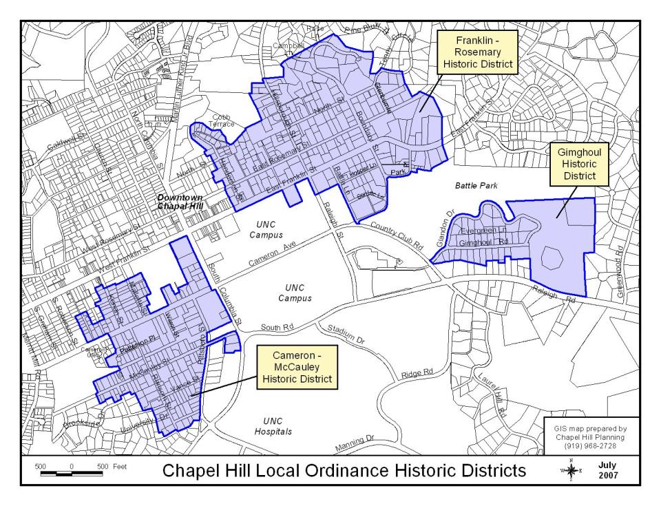 Historic Districts in Chapel Hill | Town of Chapel Hill, NC on butters nc map, greensboro nc map, birmingham nc map, high point nc map, cedar rock nc map, fuquay nc map, kingsport nc map, gray's creek nc map, united states nc map, durham nc map, decatur nc map, lake norman nc map, dayton nc map, wilmington nc map, panther creek nc map, mattamuskeet nc map, montreat college nc map, albemarle nc map, the gap nc map, orange county nc map,
