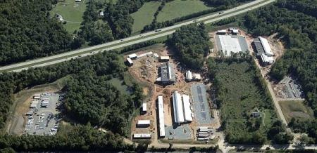 Aerial view of Town Operations Center