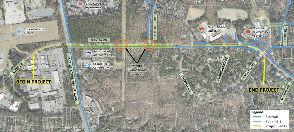 Estes Drive Meeting Map Zoom