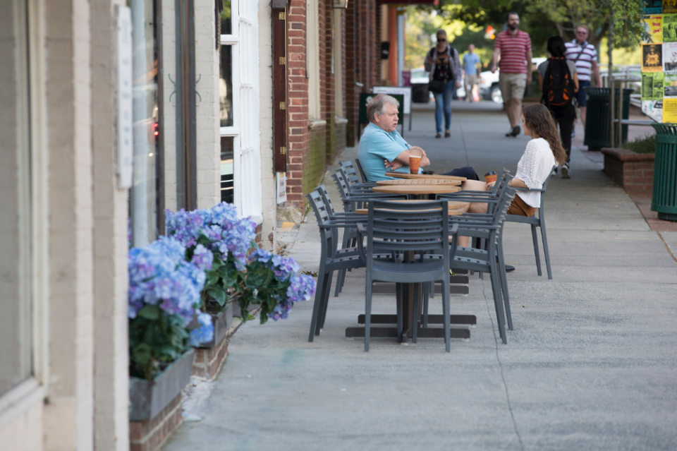 Franklin St. is a great place for outdoor dining