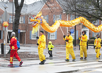 CHINESE DRAGON IN HOLIDAY PARADE