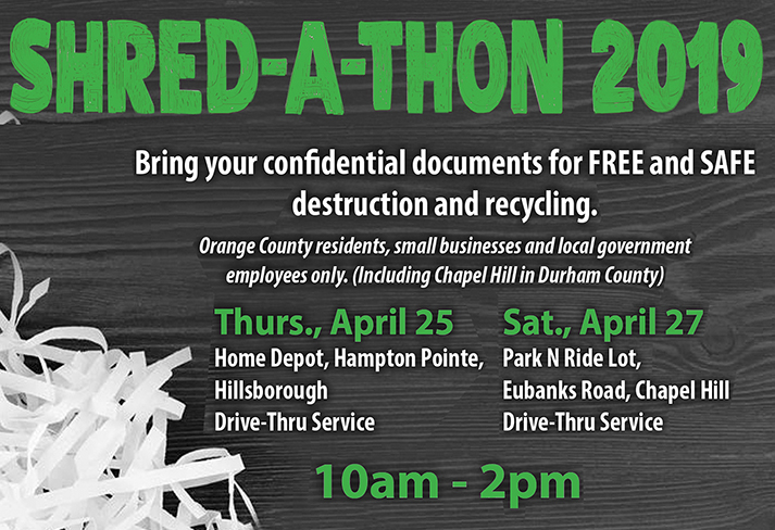 SHREDATHON APRIL 25 and 27