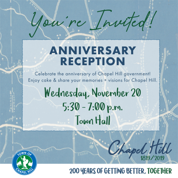 1819-2019 Anniversary Reception Invite