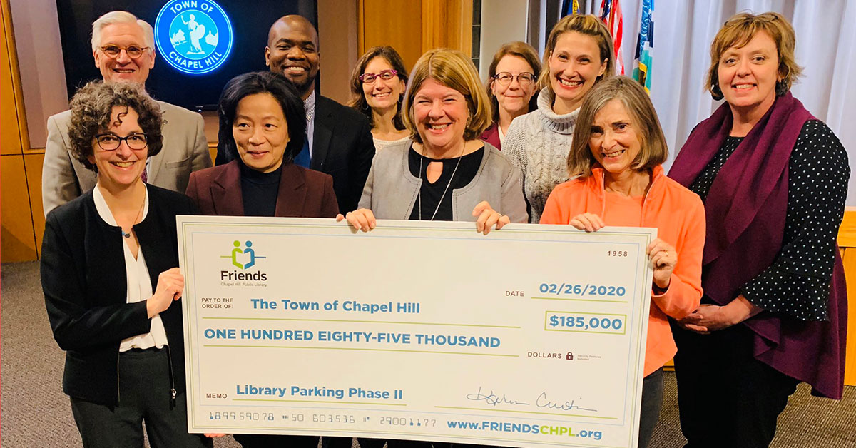 Friends of Chapel Hill Public Library $185000 Gift Check