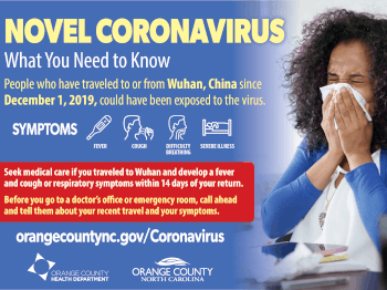 Coronavirus Flier from Orange County Health Department