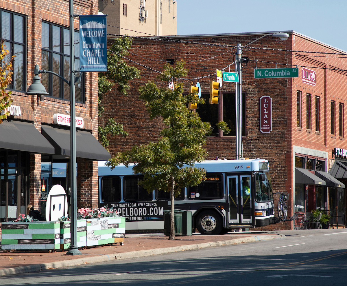 Chapel Hill Transit rolls through Downtown all day every day