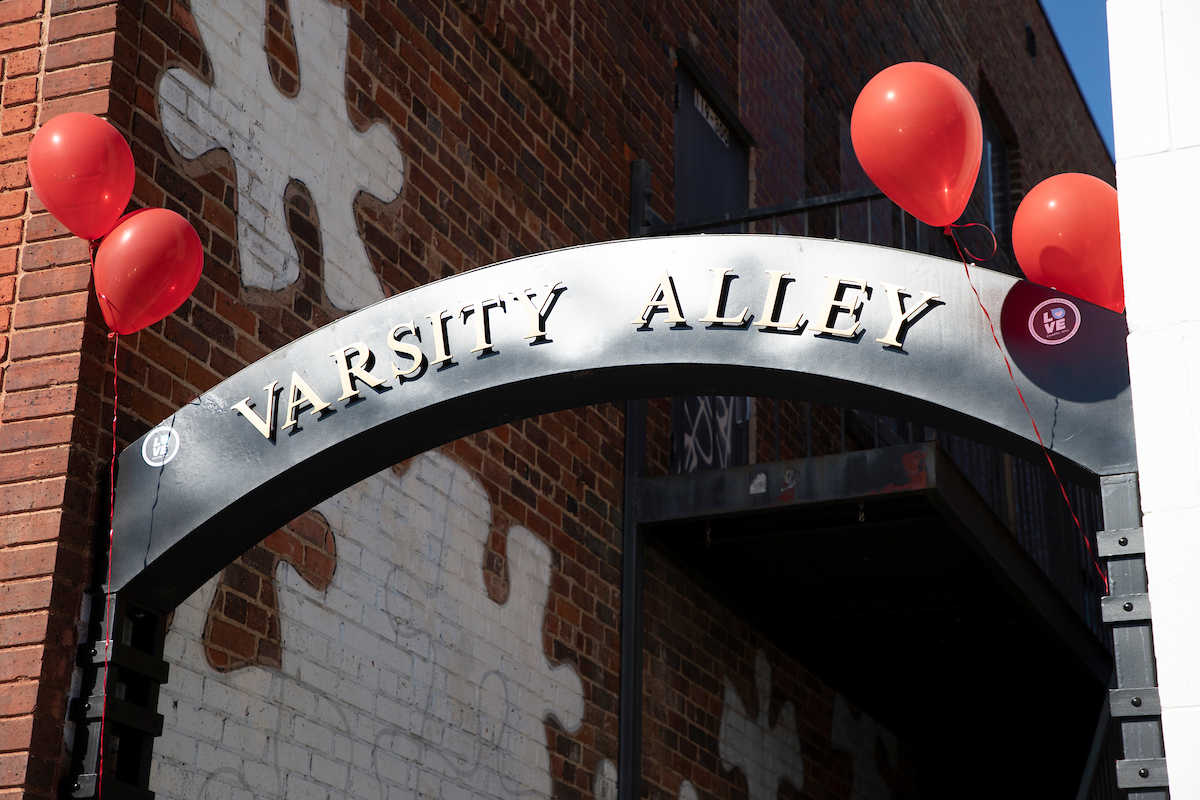 Varsity and Post Office Alleys were renovated and re-dedicated on November 20, 2019