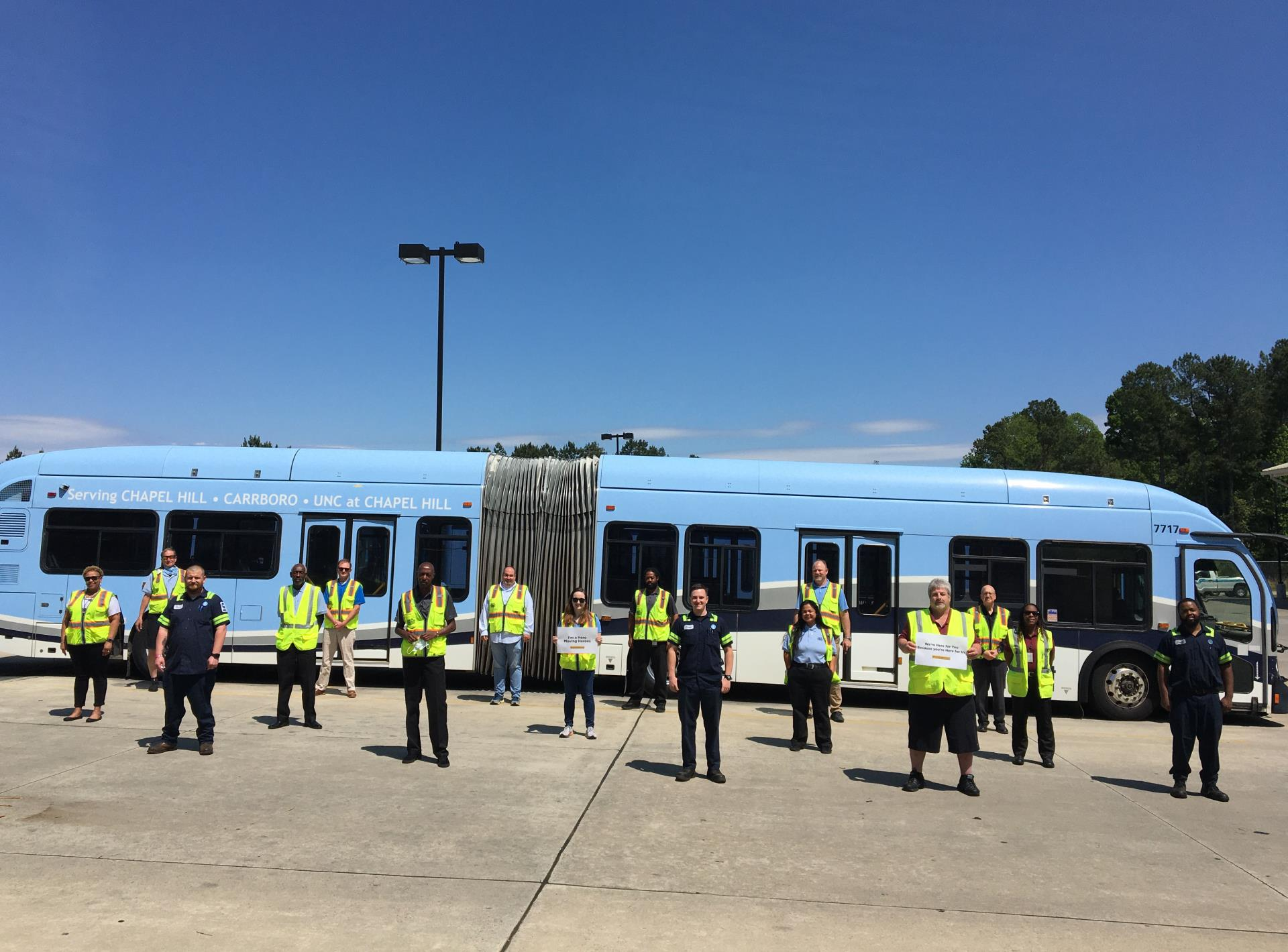 Chapel Hill Transit employees pose for a group photo