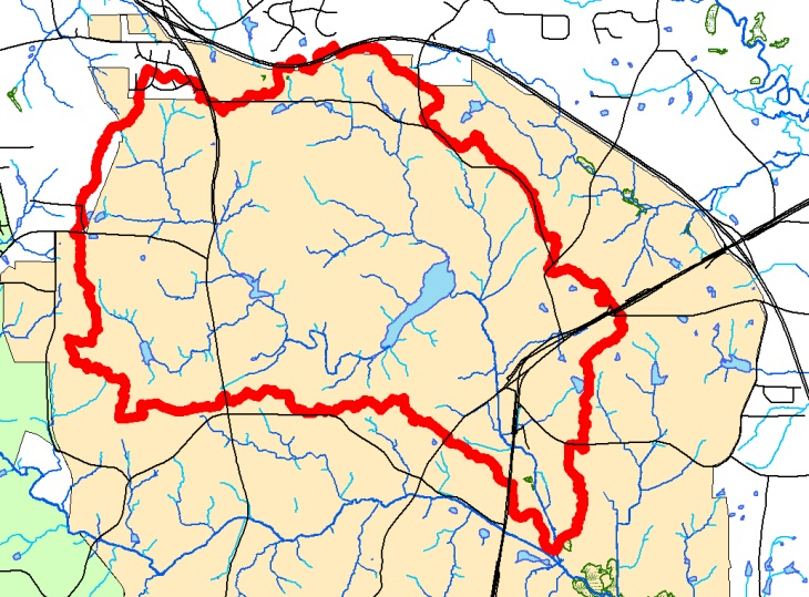 Map of Booker Creek Watershed