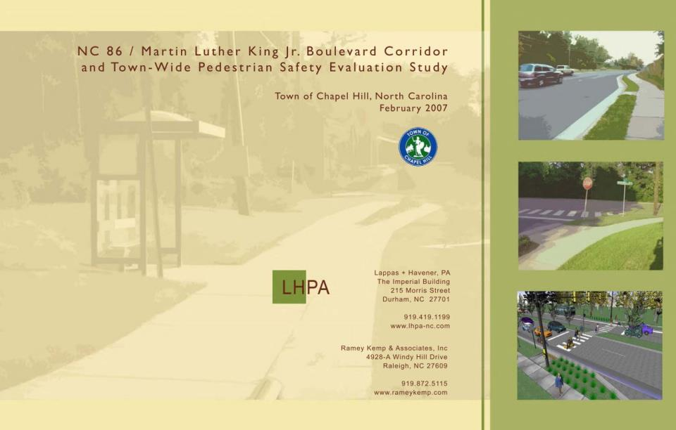 NC 86 - Martin Luther King Jr. Corridor and Town-wide Pedestrian Safety Evaluation Study (2007)