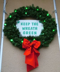 Keep the wreath green